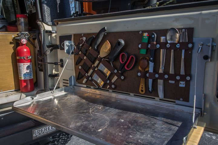 DIY Jeep Tailgate Table Utensil/Tool Organizer