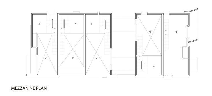 Image 13 of 15 from gallery of Orange Grove / Brooks + Scarpa Architects. mezzanine plan