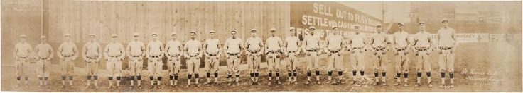 New to the Cardinals Museum collection, this panoramic 1911 St. Louis Cardinals National League team photo.