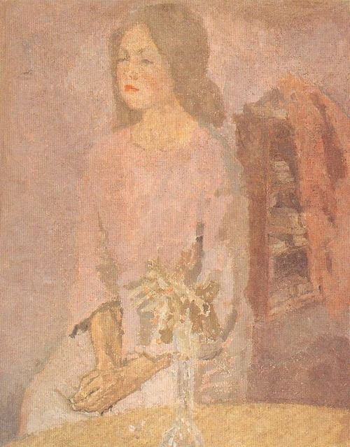 GWEN JOHN, GIRL IN ROSE, 1910