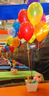 Image result for popcorn and balloon centerpiece