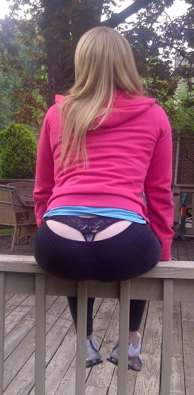Teen ass thong
