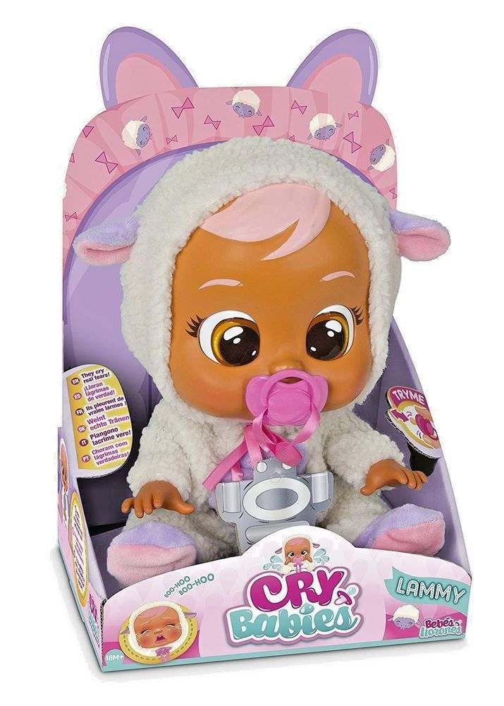 Cry Babies Coney Adorable Cute Baby Doll Kids Play Toy White Pink Bunny Outfit