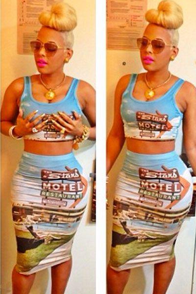 Go Vacation Stylish Print Skirt Set