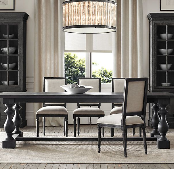 17th C. Monastery Dining Tables are available in 6 sizes and 3 finishes from Restoration Hardware.