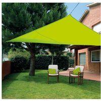 Toldo vela sombreo impermeable triangular 3,6 x 3,6 x 3,6 M Verde