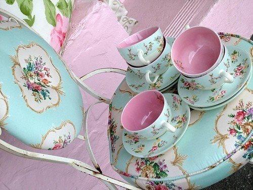 teal & pink porcelain