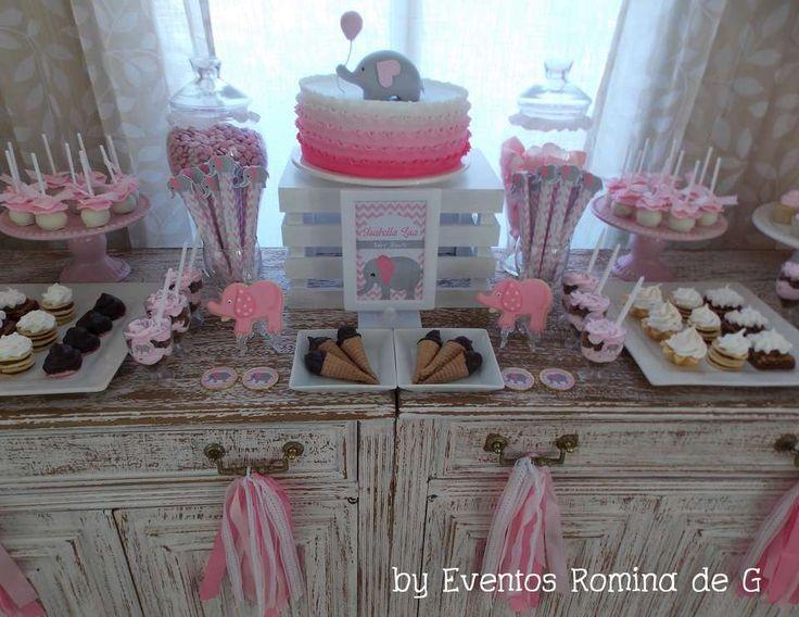 "Elephants  / Baby Shower ""Baby Shower de Isabella Little Elephants"" | Catch My Party"