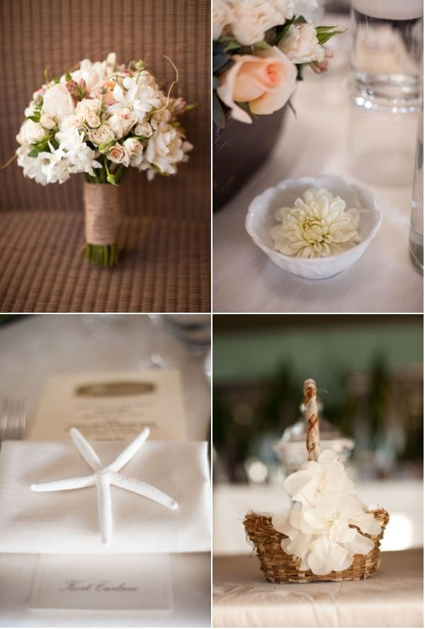 beautiful beach wedding ideas~~luv the star fish--my ideas are alot of sea shells & beach chairs