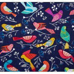 Flock Birds in Navy by Michael Miller PO1796