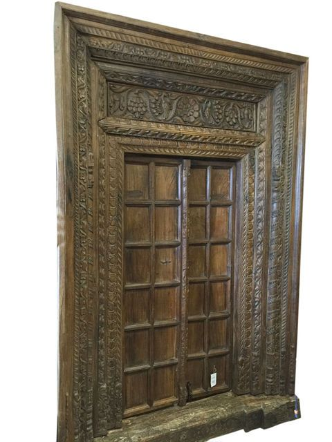 ANTIQUE Palace HAVELI DOOR spanish tuscan HAND CARVED VINTAGE TEAK DOORS 18c - 23 Best Antique Spanish Doors Images On Pinterest Hand Carved