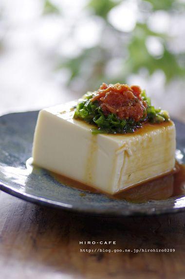 梅ワサビのせ冷ややっこ☆   美肌レシピ