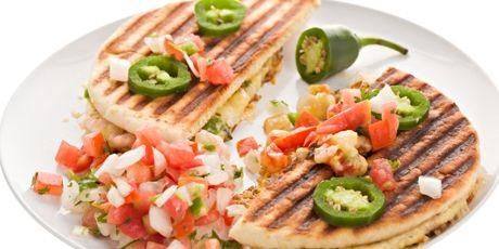 Shrimp and Green Chili Quesadillas