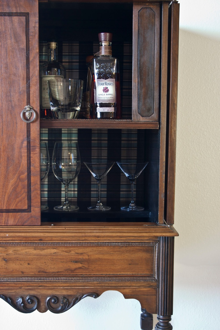 Antique Liquor Cabinet. $625.00, via Etsy. Pickup in LA. From old radio cabinet from the 1920s