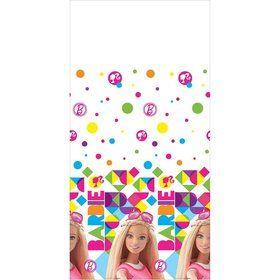 Barbie Sparkle Plastic Table Cover (Each)