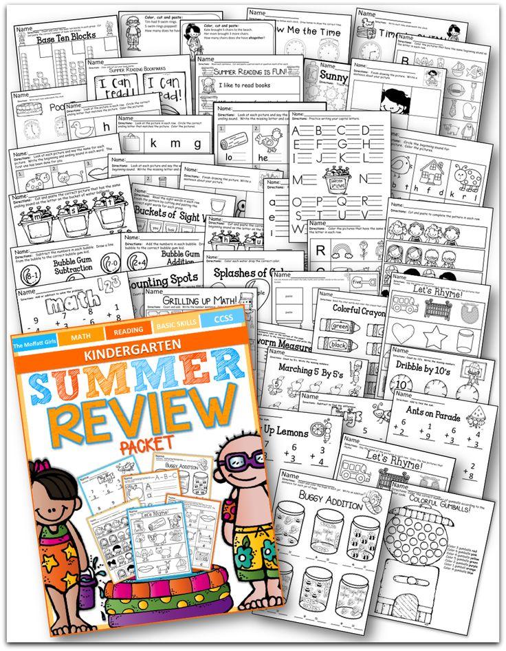 summer review no prep kindergarten kindergarten summer and school. Black Bedroom Furniture Sets. Home Design Ideas