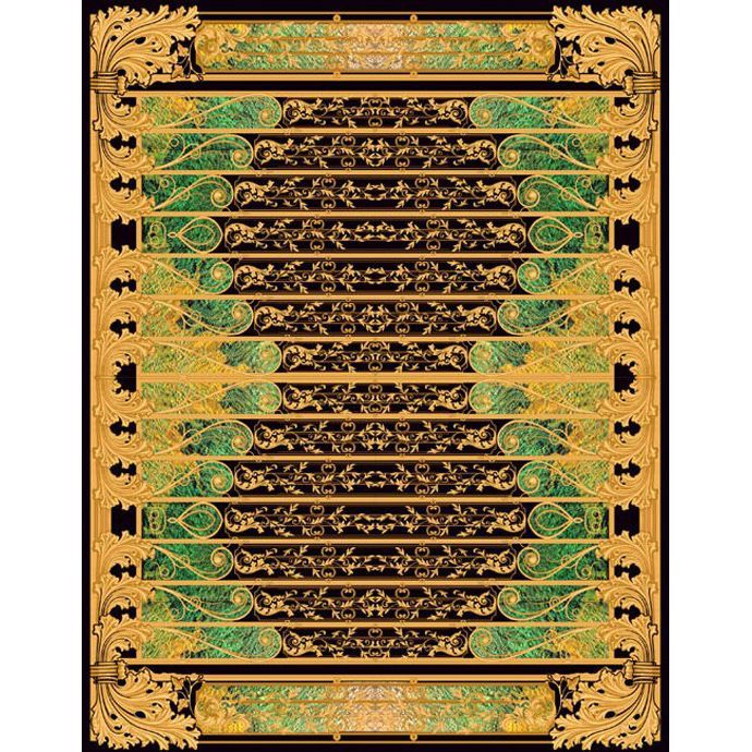 Разноцветный ковер с объемным излбражениям Edem