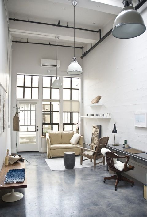 narrow living + work space...via le-sojorner tumblr