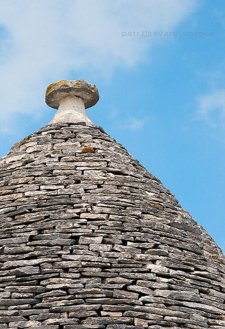 Limestone Roof of Apulian Trullo, Alberobello, Puglia, Italy by Petr Svarc, via Flickr