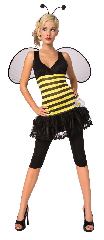 Sexy bijenpak voor dames : Vegaoo Volwassenen Kostuums