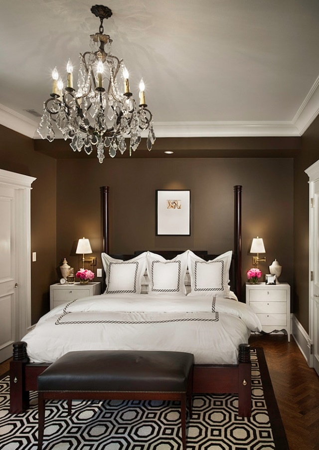 Dark, Rich, Chocolate Brown Wall Color For One Of The Walls In The Guest  Room Maybe? Loving This Color. Minus The Chandelier.