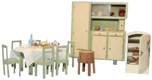 Cucina anni \'40, credenza cm. 27x30 | Piccolo Museo di Bambole e ...