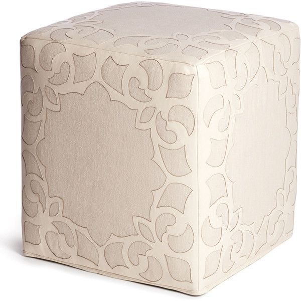 Brighton Cream Leather Linen Contemporary Cube Ottoman ($1,452) ❤ liked on Polyvore featuring home, furniture, ottomans, leather furniture, cream furniture, off white furniture, ivory furniture and leather ottoman