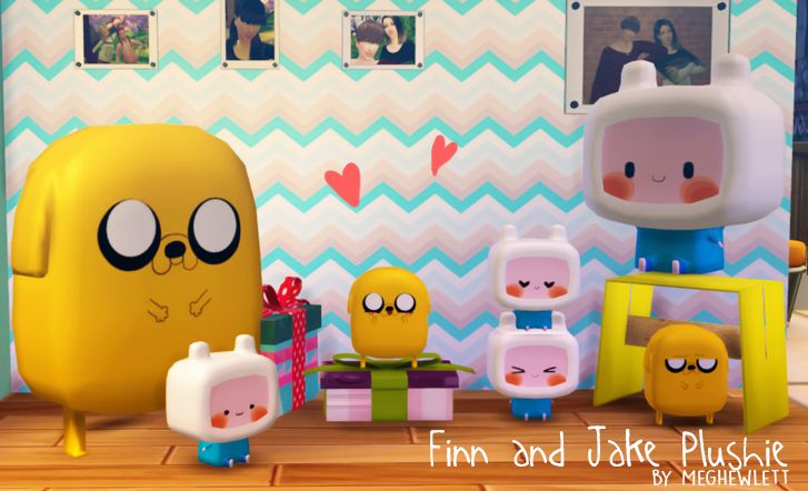 My Sims 4 Blog: Finn and Jake Plushie by Meghewlett