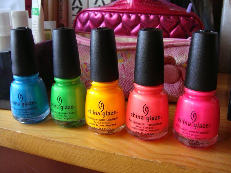China Glaze Neon tones!https://saphronlondon.com/2012/04/18/april-nails-this-seasons-finest/