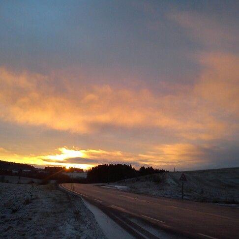 Sunrise road..