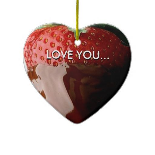 Chocolate Covered Love Valentine Heart Ornament. By CherylDanielsart