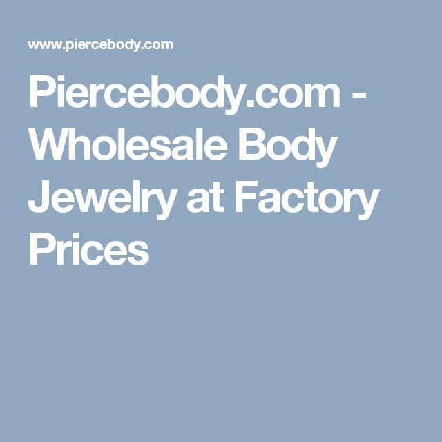Piercebody.com - Wholesale Body Jewelry at  Factory Prices