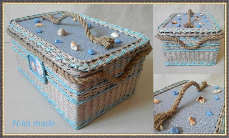 Бумажная лоза. Плетение Сундук плетеный