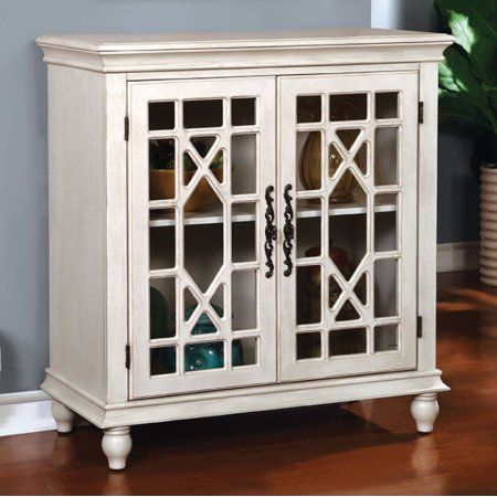 Hamer Transitional Style Storage Cabinet, White
