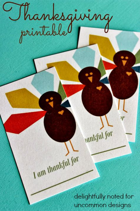 I am Thankful Printable.. This is such a fabulous family activity!  #Thanksgiving #FreePrintables via http://www.uncommondesignsonline.com/i-am-thankful-for-free-thanksgiving-printable/