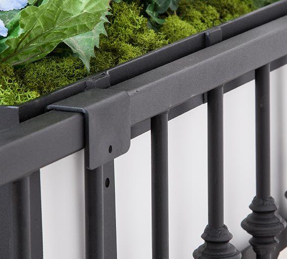 Shop Rail Planter Brackets In 4 Steps Balcony Railing Planters