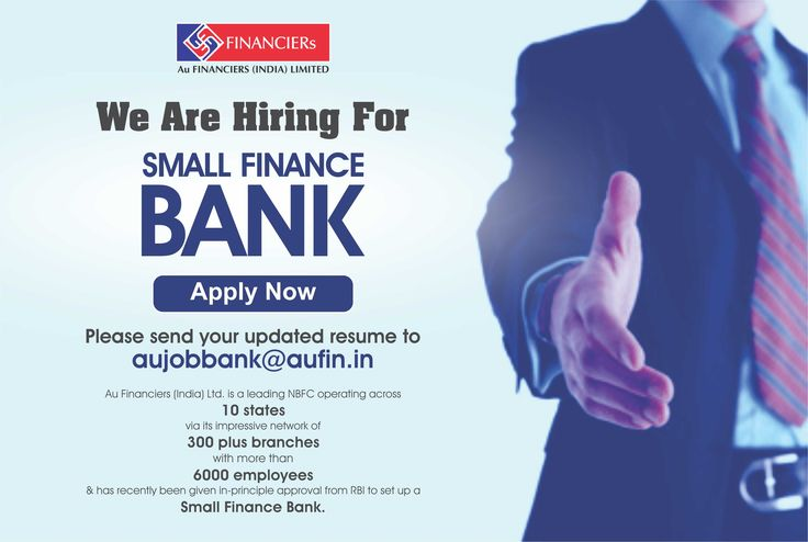 We are hiring for Small Finance Bank! Send your updated resume to - updated resume