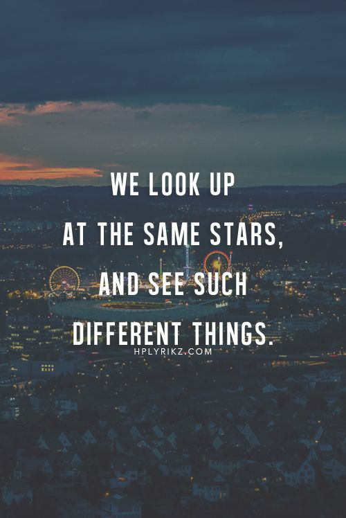 through our own filter.....