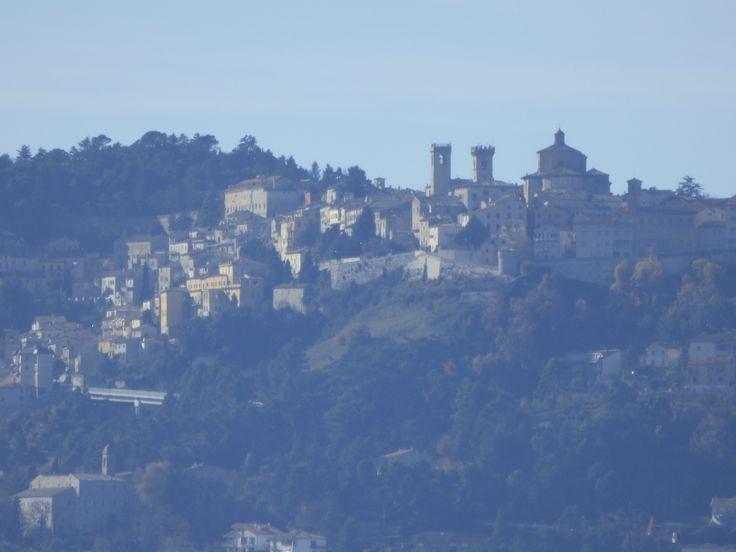 View from Serra de' Conti. We were on the balcony near Porta della Croce, Cross Gate.