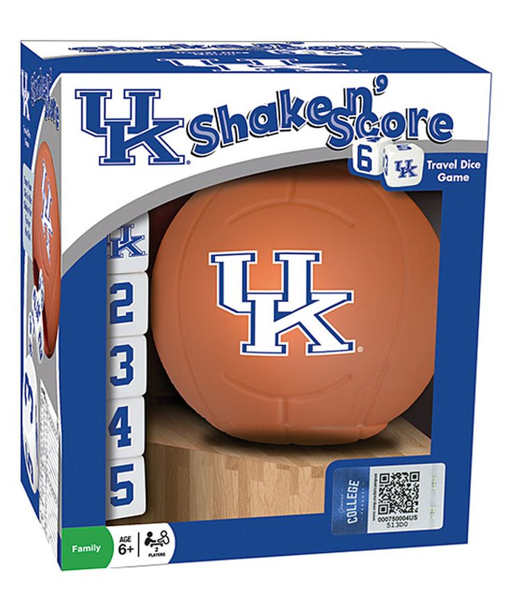 Look at this Kentucky Wildcats Basketball Shake 'n' Score Dice Game on #zulily today!