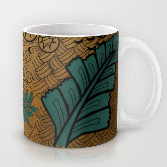 Zentangle Gold And Green  Mug