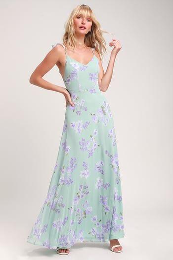 cddde2a25da Lovely Floral Maxi Dress - Light Sage Maxi Dress - Floral Dres