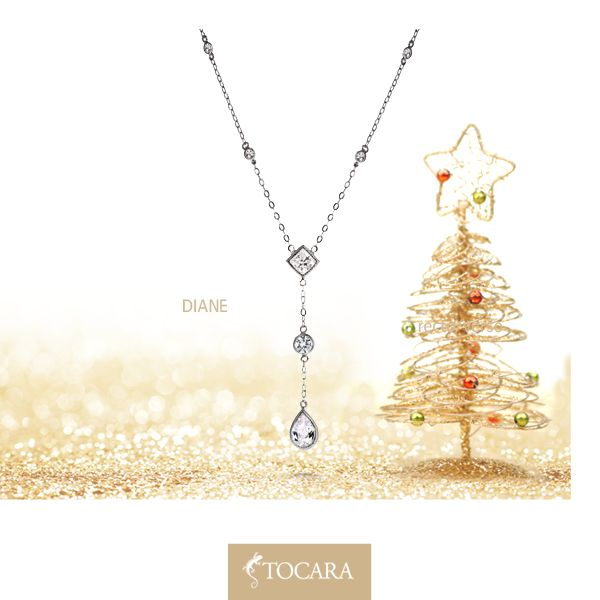 """Mirror mirror on the wall. Who has the most beautiful necklace of them all? Diane Necklace ($79) 