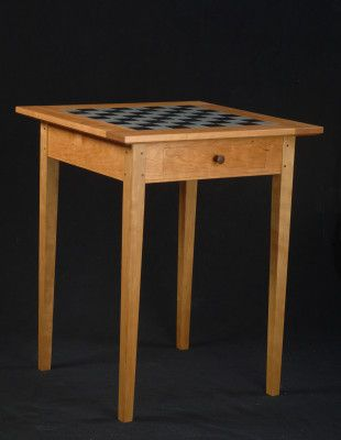 Cherry Game Table by Clarner Woodworks, a member of the Guild of Vermont Furniture Makers.
