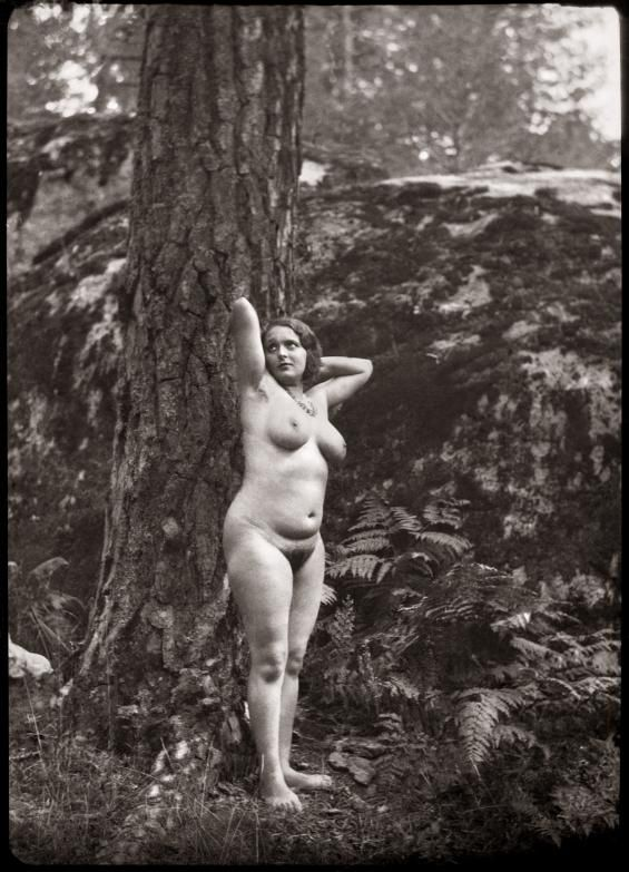 Modelo de Joaquín Sorolla García desnuda Diego González Ragel c. 1940