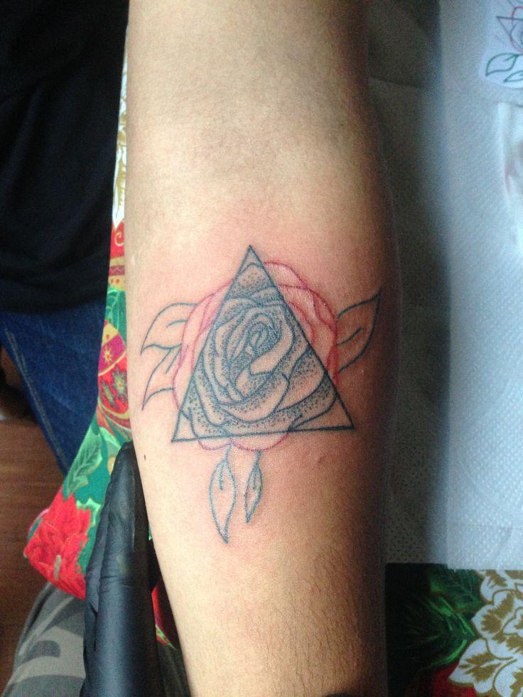 #rose #tattoo #tatuaje #dotwork