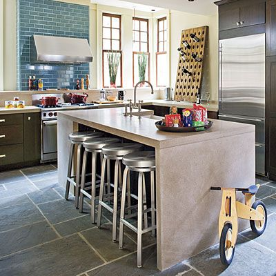 Naturally Light Kitchen-- they did a great job at mixing the materials for a comfy yet elegant look.