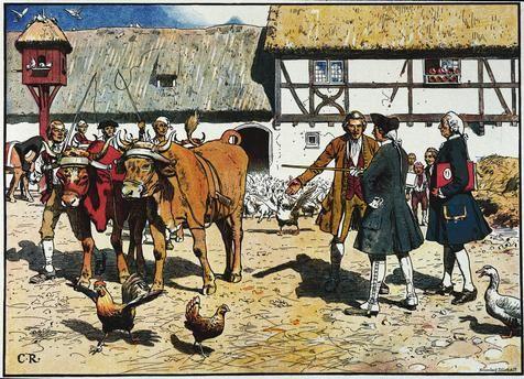 Kronprinz Friedrich macht nach der Aussöhnung mit seinem Vater auf den kgl. Domänen bei Küstrin landwirtschaftliche Studien (…)