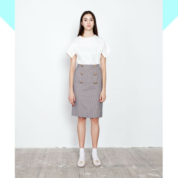 chanel lady like pancel skirt - Vine Streets