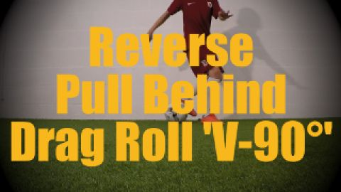 ** Reverse Pull Behind Drag Roll 'V-90°' - Static Ball Control Drills for U12-U13 ** http://ultimatesoccermovescollection.com/videos/ball-control/on-the-spot/167-drag-roll  More U12-U13 videos: http://ultimatesoccermovescollection.com/component/tags/tag/6-challenging-u12-u13 More Static Ball Control Drills: http://ultimatesoccermovescollection.com/videos/ball-control/on-the-spot